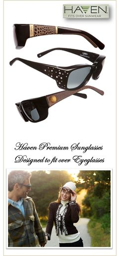 71bcb5f420c Haven Premium sunglasses for eyeglass-wearers. Designed to be worn over  glasses or readers