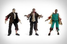 "The DIY Zombie Customizable Action Figure Kit ($60) overcomes this by letting you decide for yourself. Included inside are three eight-inch articulated bodies, five different heads, two pairs of hands, one pair of ""just bitten"" and one pair of ""really rotten"" arms and legs, an extra chest prosthetic, a business suit, some medical scrubs, a lab coat, two pairs of shoes, and instructions."