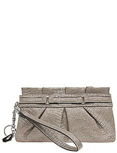 2899cb19c314 Pleated lizard wristlet bag Fashion Accessories