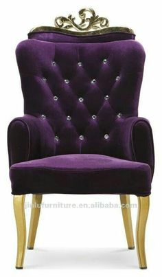 purple antique french dining chair