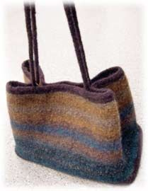 felted bag by Colorjoy in Noro/stash
