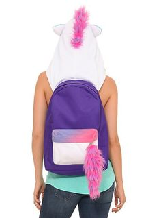 Unicorn Hooded Backpack  girls  backpacks  fashion www.loveitsomuch.com  Como Hacer 7951489a8ebab