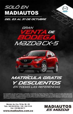 #NOVOCLICK esta con @Madiautos_ #Mazada CX-5 #Gran venta de Bodega