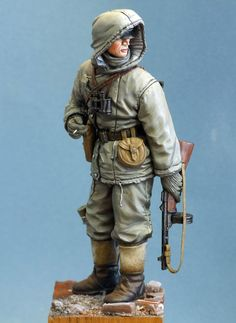 WWII Toy soldier in winter uniform.