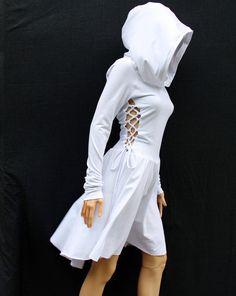 Abito alto basso abito basso alto vestito / Felpe con cappuccio per le donne /Hoodies / i vestiti di pizzo Abito / Casual
