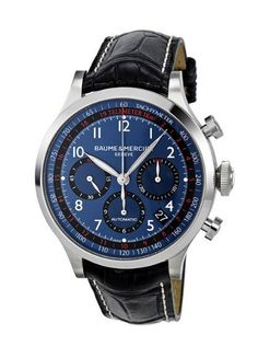 Awesome Watch Baume and Mercier Blue Dial Chronograph Automatic Mens Watch ~ Ahmad Loves Luxury Watches Baume Mercier, Cool Watches, Watches For Men, Wrist Watches, Men's Watches, Gifts For Dad, Guy Gifts, Luxury Watches, Chronograph