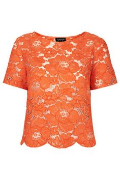 Flower Lace Tee - add instant glamour and fun with this lace top from TopShop