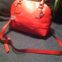 RED GORGEOUS CROSSBODY New with small  tears on handle Bags Crossbody Bags