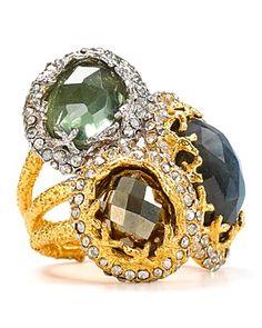 Alexis Bittar Siyabona Fern Gold Labradorite Stacked Ring | Bloomingdale's