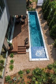 Having a pool sounds awesome especially if you are working with the best backyard pool landscaping ideas there is. How you design a proper backyard with a pool matters. Small Swimming Pools, Small Pools, Swimming Pools Backyard, Swimming Pool Designs, Lap Pools, Indoor Pools, Terraced Landscaping, Backyard Pool Landscaping, Backyard Pool Designs