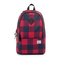 Nelson Backpack in BUFFALO PLAID/BLACK RUBBER $65