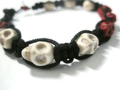Jewellery Halloween Skull day of the dead by FruttiTuttiBeadCandy, £15.00