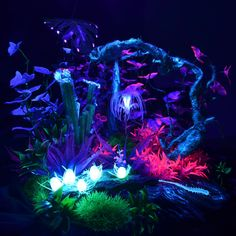 Avatar Theme, Avatar Movie, Fantasy Places, Fantasy World, Neon Flowers, Fantasy Forest, Magic Forest, Landscape Concept, Flower Aesthetic