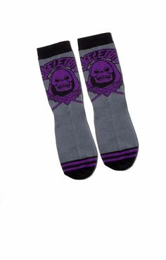 NWT Masters Of The Universe Skeletor Mens Crew Socks Size 10-13 Loot Crate #Bioworld #Crew #lootcrate #ebay #deals #skeletor #mastersoftheuniverse #cool #purple