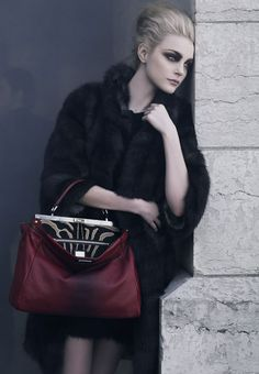 Jessica Stam by Karl Lagerfeld for Fendi Fall 2009 Campaign