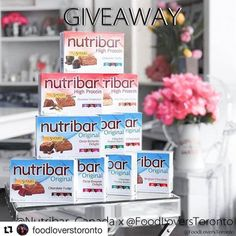 """Dia at @foodloverstoronto is just as passionate as we are about spreading the word on Nutribars' meal replacement bars which provide """"Nutrition on the Go"""" for busy schedules! Check out her profile for her giveaway details about how you can win a supply of #Nutribar products! #Nutribar2Go Meal Replacement Bars, High Protein, Fudge, Giveaways, Nutrition, Profile, Meals, Check, Products"""