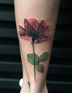 Rose calf tattoo for girl - 100+ Meaningful Rose Tattoo Designs  <3 <3