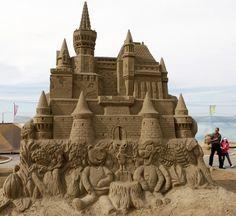 Enormous sand castle