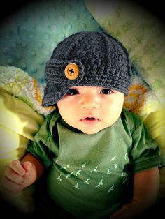Baby Boy Hat, Baby Boy Hats, Baby Boy Hat, Crochet newborn newsboy baby boy hat, newborn infant photo prop baseball cap, baby shower gift