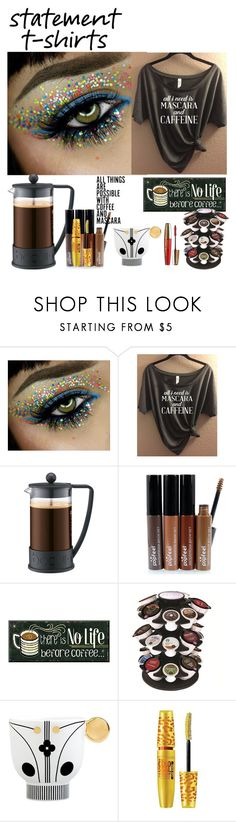 """""""Coffee & Mascara"""" by rosalindmarshall ❤ liked on Polyvore featuring beauty, Bodum, Keurig, Bosa, Maybelline and L'Oréal Paris"""