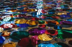 Our Colour Reflection creates a conversation between the viewer and the setting using more than 700 mirrors made of coloured acrylic.