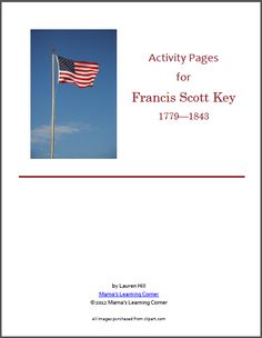 Free Printables for Francis Scott Key Unit Study - Mamas Learning Corner