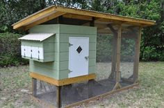 midcentury style chicken coop - similar to a kit I've been coveting at a local farm/ranch outlet
