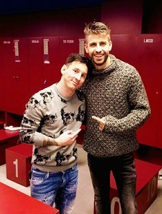 Messi and Piqué.