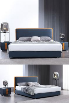 navy blue headboard bedroom ideas