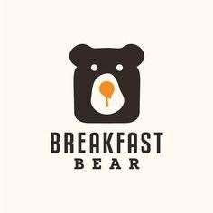 """""""Breakfast Bear"""" this logo is just so cute!""""Breakfast Bear"""" this logo is just so cute! Logo Inspiration, Logo Branding, Branding Design, Brand Identity, Logos Online, Egg Logo, Toys Logo, Web Design, 2020 Design"""