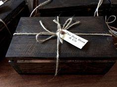 "9.5"" x 5.5"" x 3.75"" Vintage wood box  Handmade wood box keep sake box by TheBoxBros, $35.00"