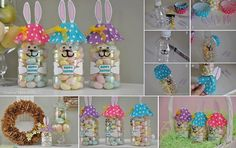 Cute easter jars