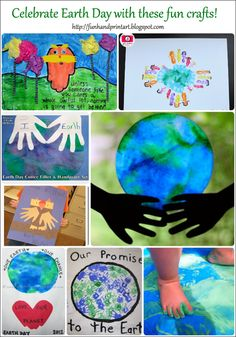 Celebrate Earth Day with Handprint Art! - Fun Handprint Art