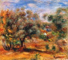 Landscape Near Cagnes - Renoir Pierre-Auguste