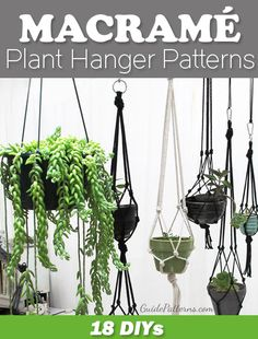 20 macrame diy plant hanger tutorials hanging pots - Savvy Ways About Things Can Teach UsFree Diy Macrame Plant Hanger Patterns Mehr Source byHow to Make a Macramé Plant HangerHow To Start Macrame DIY Hanging Pots In No Time. Makramé (mek-re-mei) is the Diy Macrame Plant Hanger, Diy Macrame Wall Hanging, Macrame Plant Hanger Patterns, Free Macrame Patterns, Plant Hangers, Macreme Plant Hanger, Macrame Curtain, Crochet Plant Hanger, Macrame Mirror