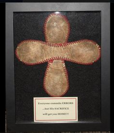 Baseball Cross in Shadowbox Frame - Philippians 4:13                                                                                                                                                                                 More