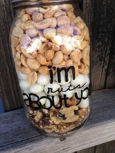 Im Nuts About You Hand Painted Glass Jar with by STITCHandCABOODLE, $12.00