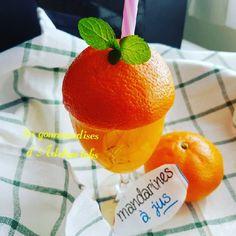 Jus de mandarines pressées