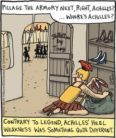 Achilles had good taste in heels.