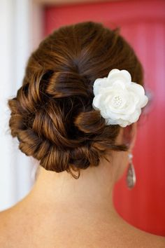 Wedding Hairstyle   : photo: Megan Reeves Photography