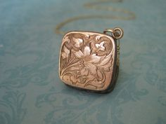 Antique Rose Gold Locket Floral Design Wedding by SweetheartLane, $102.00