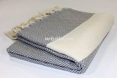 Turkish Towel Blanket - Gray - http://turkishbox.com/product/turkish-towel-blanket-gray/  #turkishtowels #peshtemals #turkishproducts