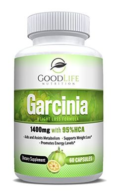 Pure Garcinia Cambogia by GoodLife NutritionTM - HCA Extract 60 Veggie Capsules Weight Loss Supplement - All Natural Appetite Suppressant - Promotes a Healthy Digestive System Best Weight Loss Supplement, Weight Loss Supplements, Pure Garcinia Cambogia, Metabolism Support, Natural Appetite Suppressant, Organic Coconut Oil, Weight Loss Transformation, Lose Weight, Nutrition