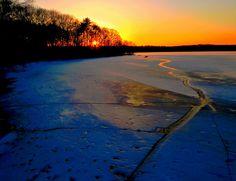 Fresh Pond sunset.