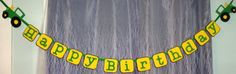 Tractor Birthday Party Banner.