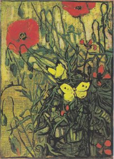 Van Gogh Butterflies and poppies - Google Search