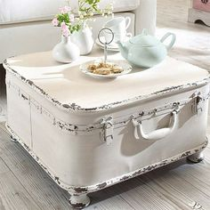 old vintage suitcase coffee side table
