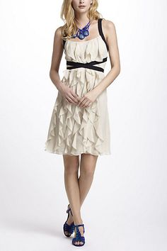 Banded Ruffles A-Line Dress #anthropologie