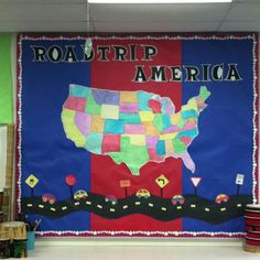 Roadtrip America bulletin board Ties in with chorus concert theme