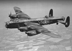 An RAF Avro Lancaster bomber.